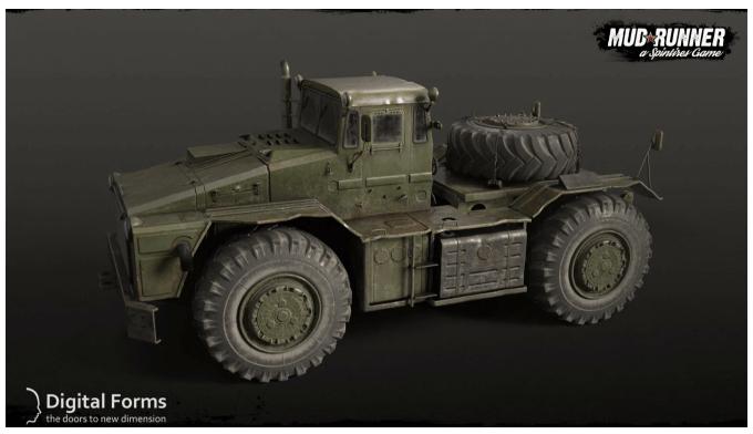 3D пример работы МАЗ-538