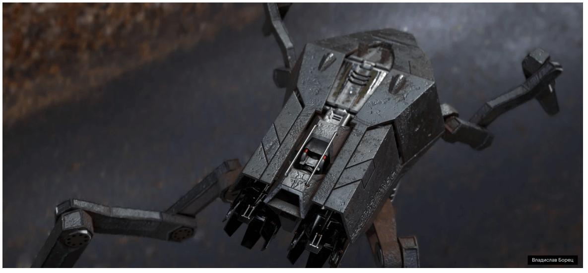 3D пример работы Робот