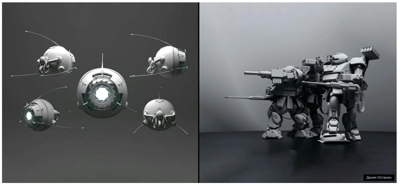 3D пример работы Трансформер