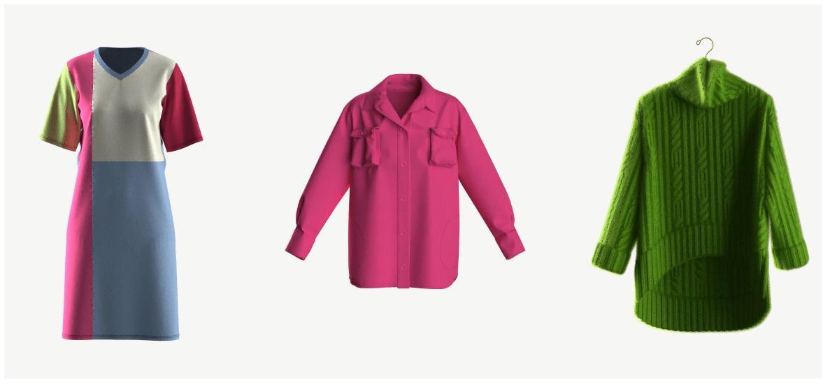 Пример будущих реалистичных digital коллекций одежды 1