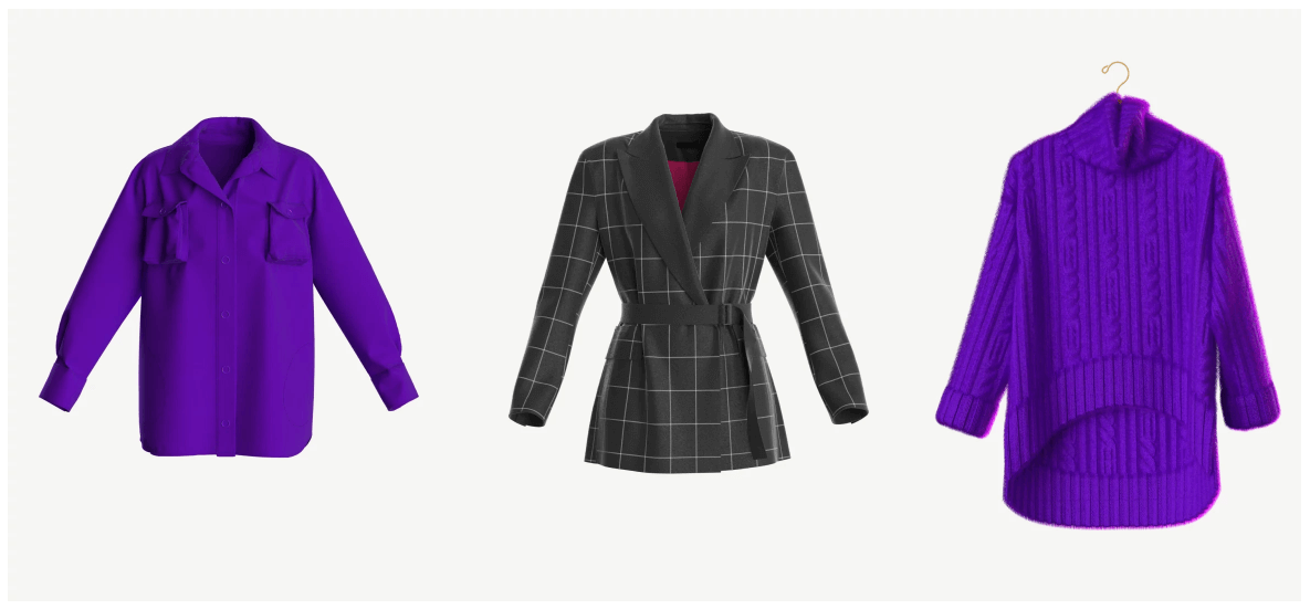 Пример будущих реалистичных digital коллекций одежды 2