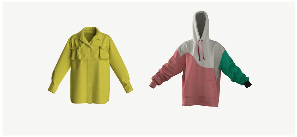 Пример будущих реалистичных digital коллекций одежды