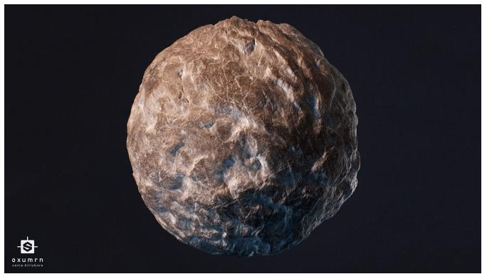 3Д модель озерной камень