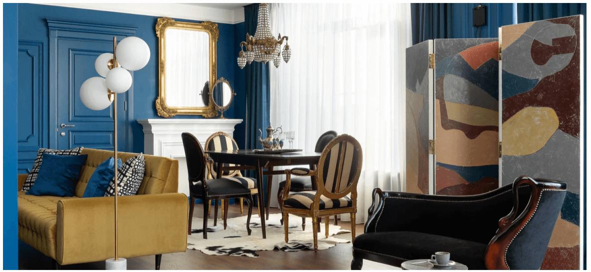 Пример работы дизайна интерьера и декора